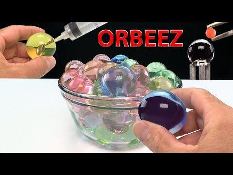 EXPERIMENT ORBEEZ VS GLOWING METAL BALL - GALLIUM - REVERSE VIDEO
