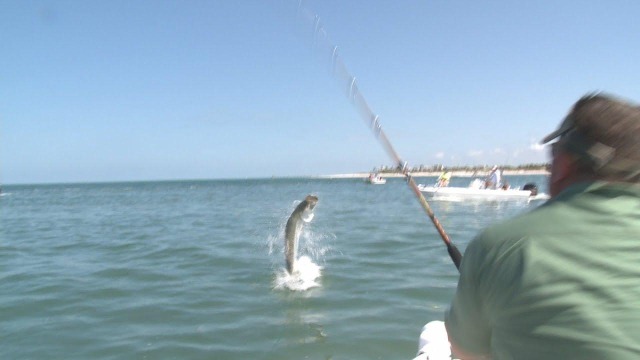Bow to the king tarpon fishing boca grande youtube for Boca grande tarpon fishing