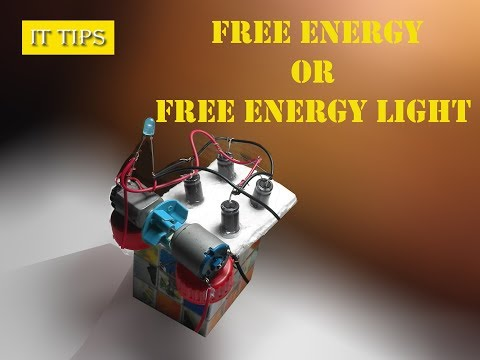 How to Make a Free Energy generator or Free Energy light at home.