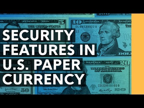 Security & Anti Counterfeit Features Of Paper Currency - The $5 Bill