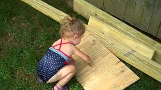 Building The Swing Set Summer 2012 Part 2