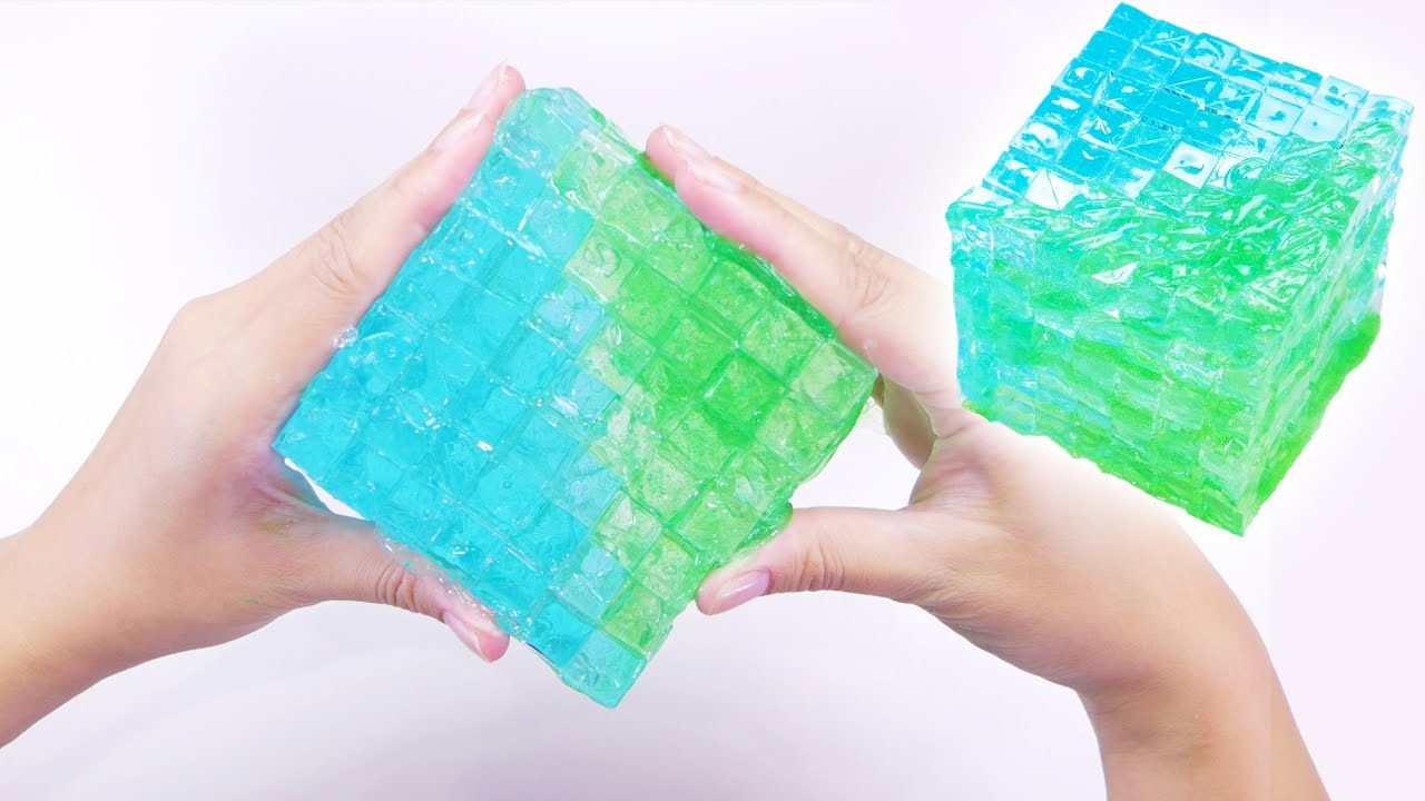 【ASMR】Big Clear Cube Slime 🔷🔷 巨大!カランコロンキューブスライム【音フェチ】