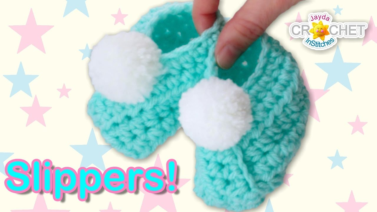 Classic Wrap Style Baby Slippers Crochet Pattern Youtube