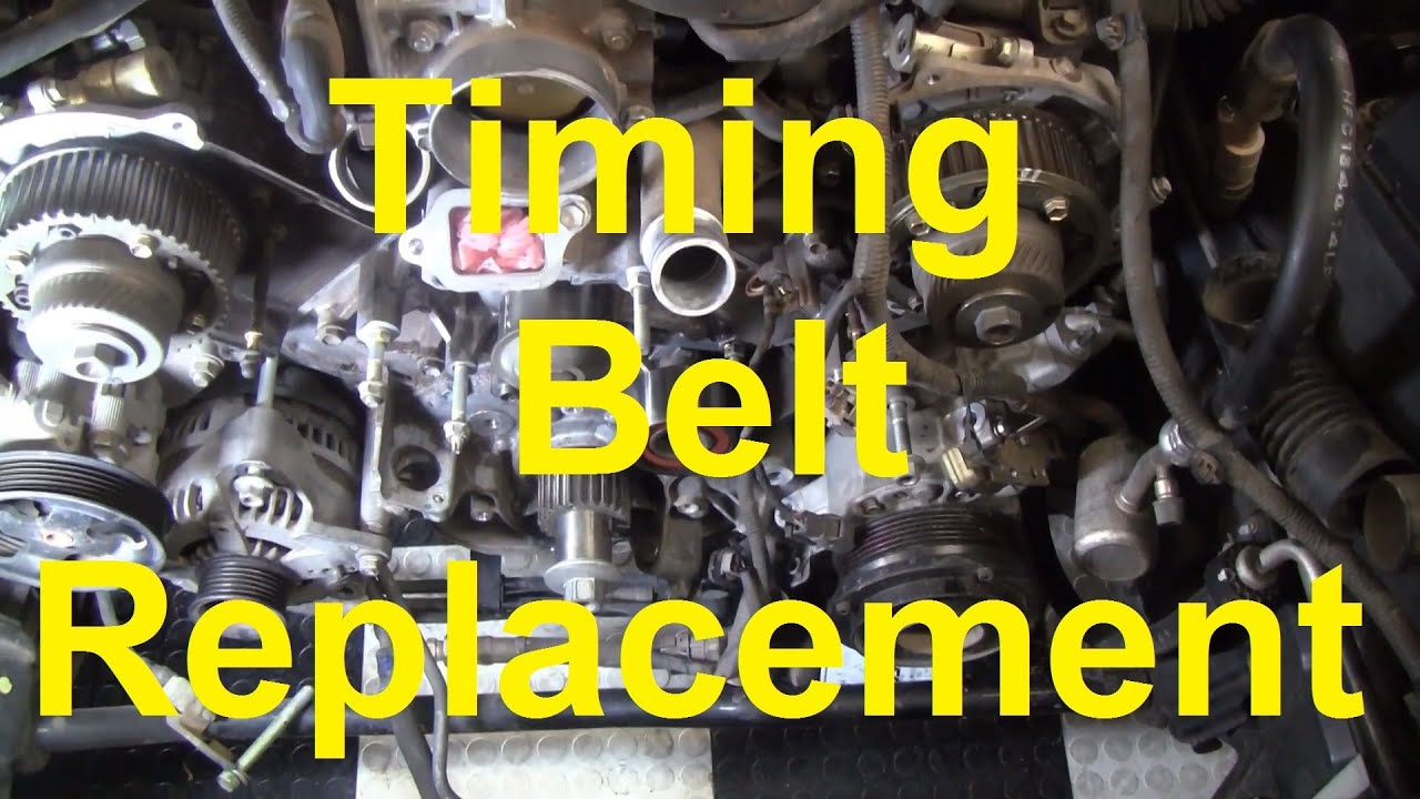 How To Change The Timing Belt In A Toyota V8 2uz Fe 3uz