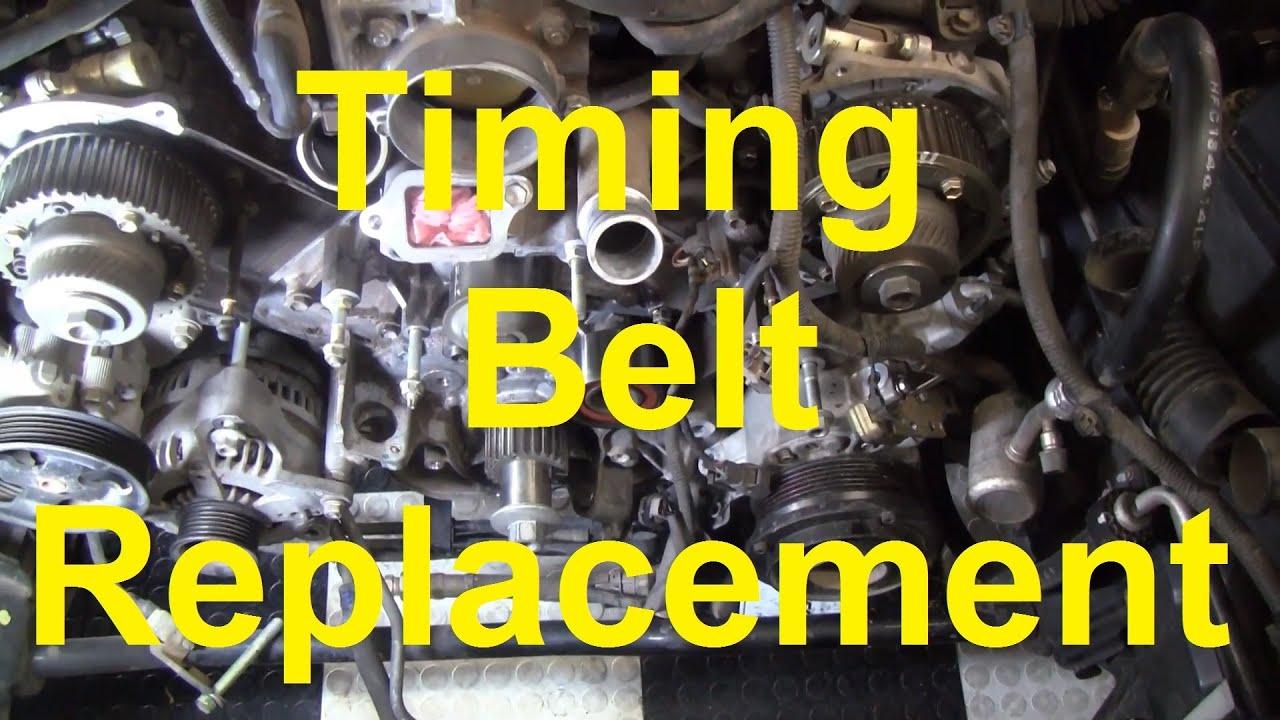 How To Change The Timing Belt In A Toyota V8 2UZ FE 3UZ FE