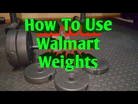 Walmart Weights: How To Workout With Vinyl Walmart Weights (tutorial)