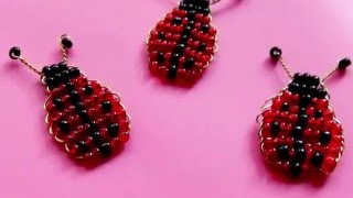 Божья коровка из бисера. Бисероплетение. Ladybug(Схема плетения из бисера. Божья коровка. Параллельное плетение., 2016-04-25T14:56:48.000Z)