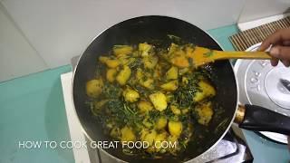 Aloo Methi Recipe - Vegan Indian Fenugreek & Potato Curry