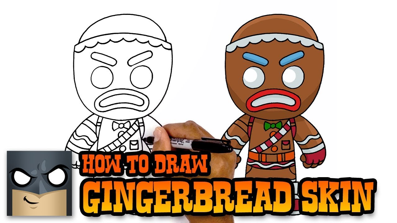 Fortnite How To Draw Gingerbread Skin Art Tutorial Youtube