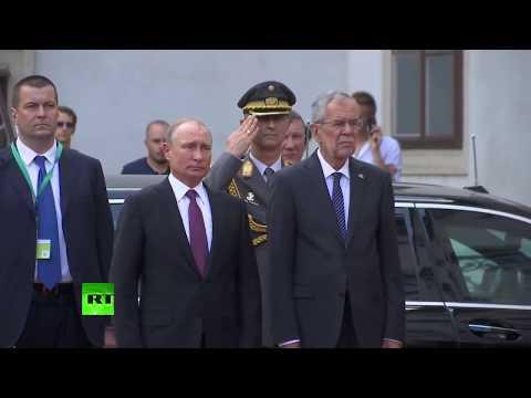 Putin arrives in Austria (Streamed live)