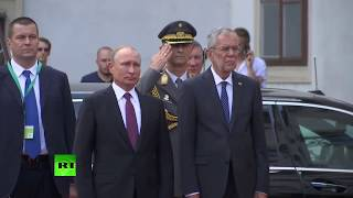 Putin arrives in Austria (Streamed live)