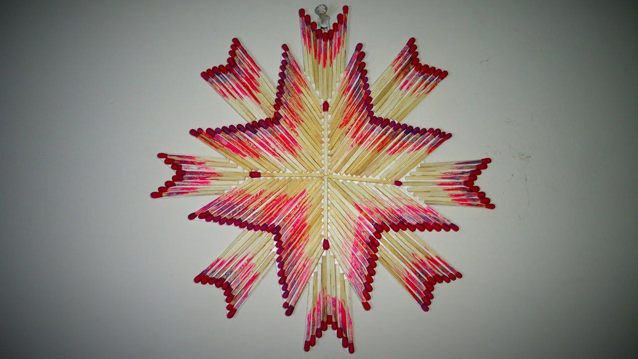 Diy Wall Mat Decoration Matchstick Craft Made With Matchstick