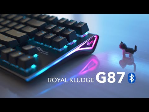 Royal Kludge G87 Wired Wireless Mechanical Keyboard Unboxing Typing Sounds Outemu Red Switches Youtube