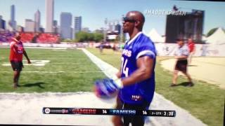 Terry Crews robot dance touchdown celebration