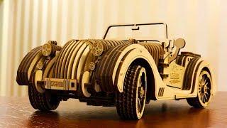 Механический конструктор UGEARS. Автомобиль Roadster. Обзор деревянного конструктора и идея подарка
