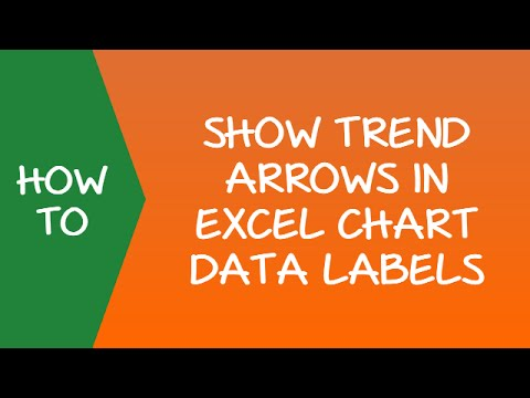 Show YoY Change and Up/Down Trend Arrows in Excel Chart Data Labels