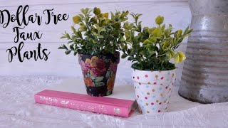Dollar Tree DIY Faux Potted Plants