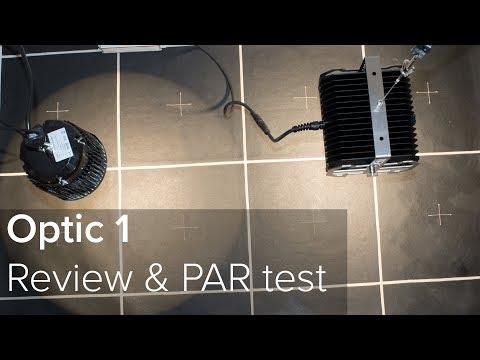 Optic 1 LED grow light PAR test and review