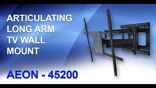 Articulating TV Wall Mount - Long Arm TV Mount || AEON-45200(Articulating TV Wall Mount - Full Motion TV Wall Mount Call Toll Free: (877)302-8397 ••• http://www.AV-EXPRESS.com BUY NOW: http://goo.gl/UKHbrt This ..., 2010-10-06T15:14:51.000Z)