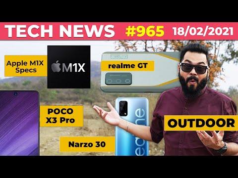 POCO X3 Pro India Launch,realme GT Full Specs, Apple M1X Specs🤯,Narzo 30 Launch On 24th Feb-#TAN965