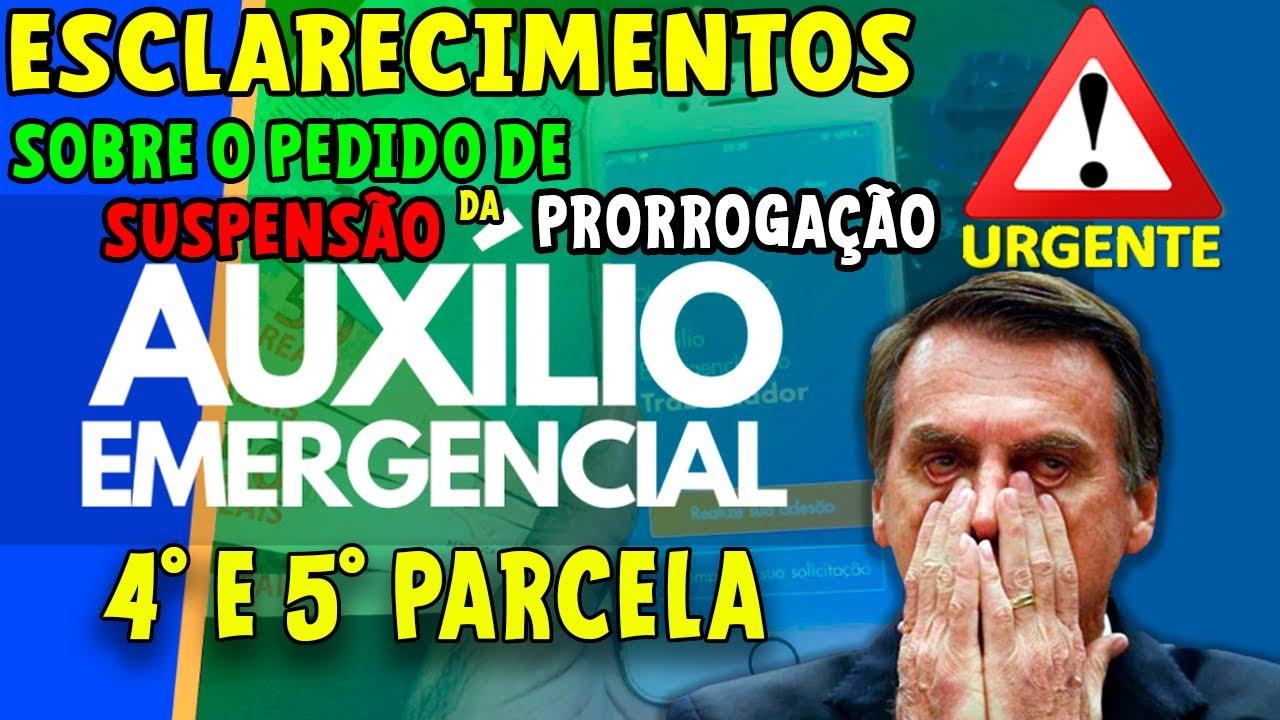 URGENTE! ESCLARECIMENTO SOBRE SUSPENSÃO DA PRORROGAÇÃO DO AUXÍLIO EMERGENCIAL TERÇA-FEIRA 07/07