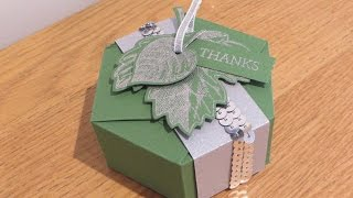 Hexagonal Gift Box with Vintage Leaves by Stampin' Up