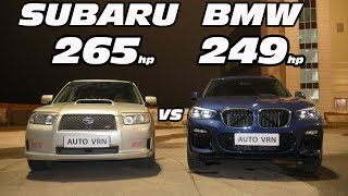 Японец или Баварец?! Subaru Forester 2.5T vs BMW X3 3.0D G01. ГОНКА