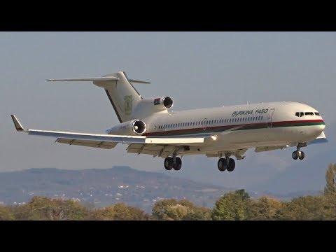 [FullHD] *RARE* Government of Burkina Faso Boeing 727-200 landing at Geneva/GVA/LSGG