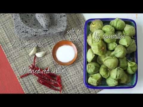 Char-grilled tomatillo salsa recipe video