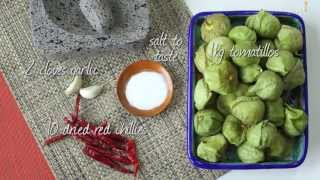 Char-grilled tomatillo salsa recipe video