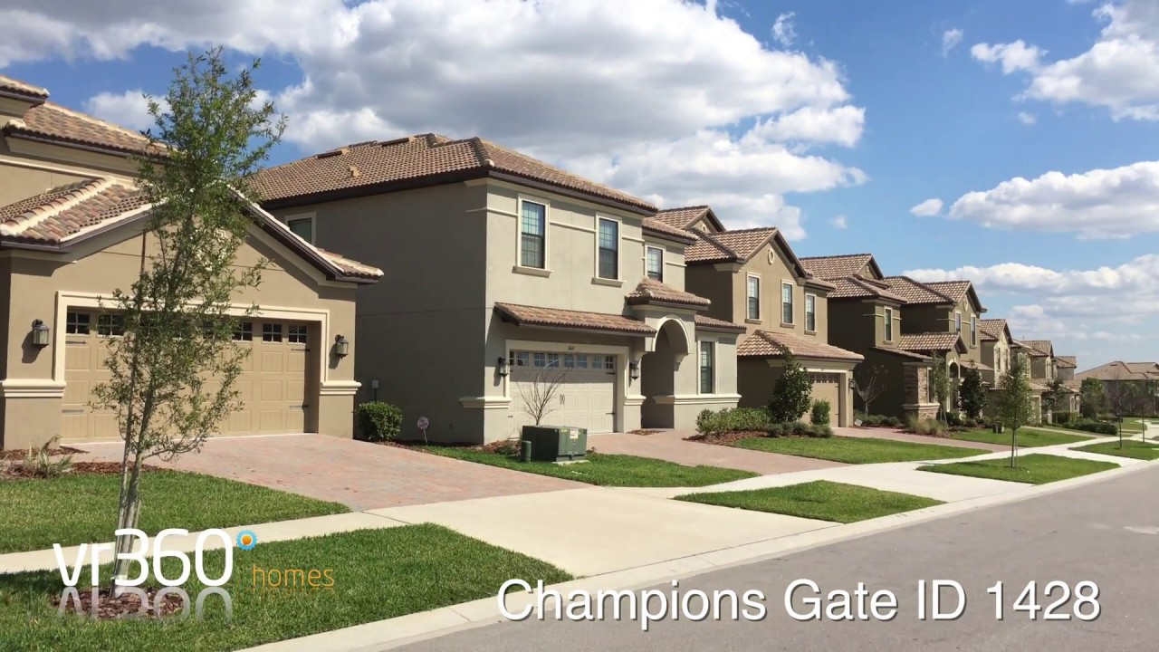 Champions Gate 5 Bedroom Orlando Vacation Rental Id 1428 On Vr360 Youtube