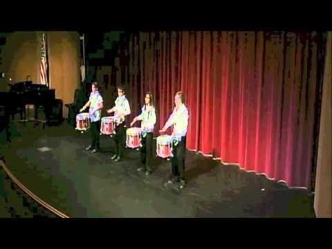 Awesome Drumline Snare Quartet - San Gorgonio Middle School
