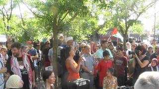 London, Ontario Rally For Palestinians In Gaza & West Bank - July 11th 2014