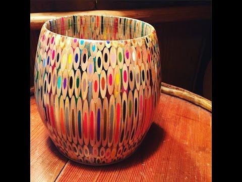 Colored Pencil Bowl Build