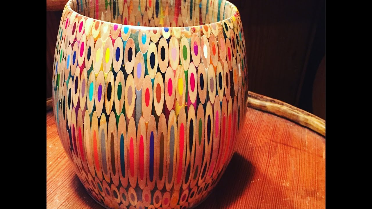 colored pencil bowl build youtube