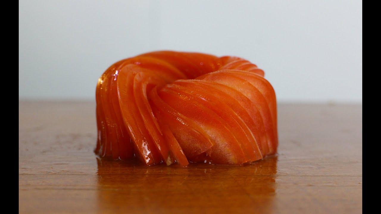 Tomato garnish   food decoration   japanese sushi chef decoration ...