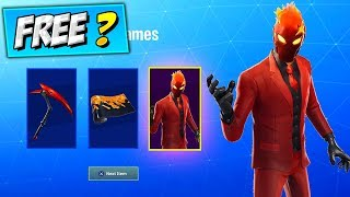 Cómo obtener EVIL SUIT SET (RECOMPENSAS GRATUITAS?) Fortnite Red-Suit wildcard Skin NEW STARTER PACK BUNDLE?