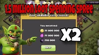 100 MILLION LOOT SPENT AT ONCE! Clash of Clans End of Season 1