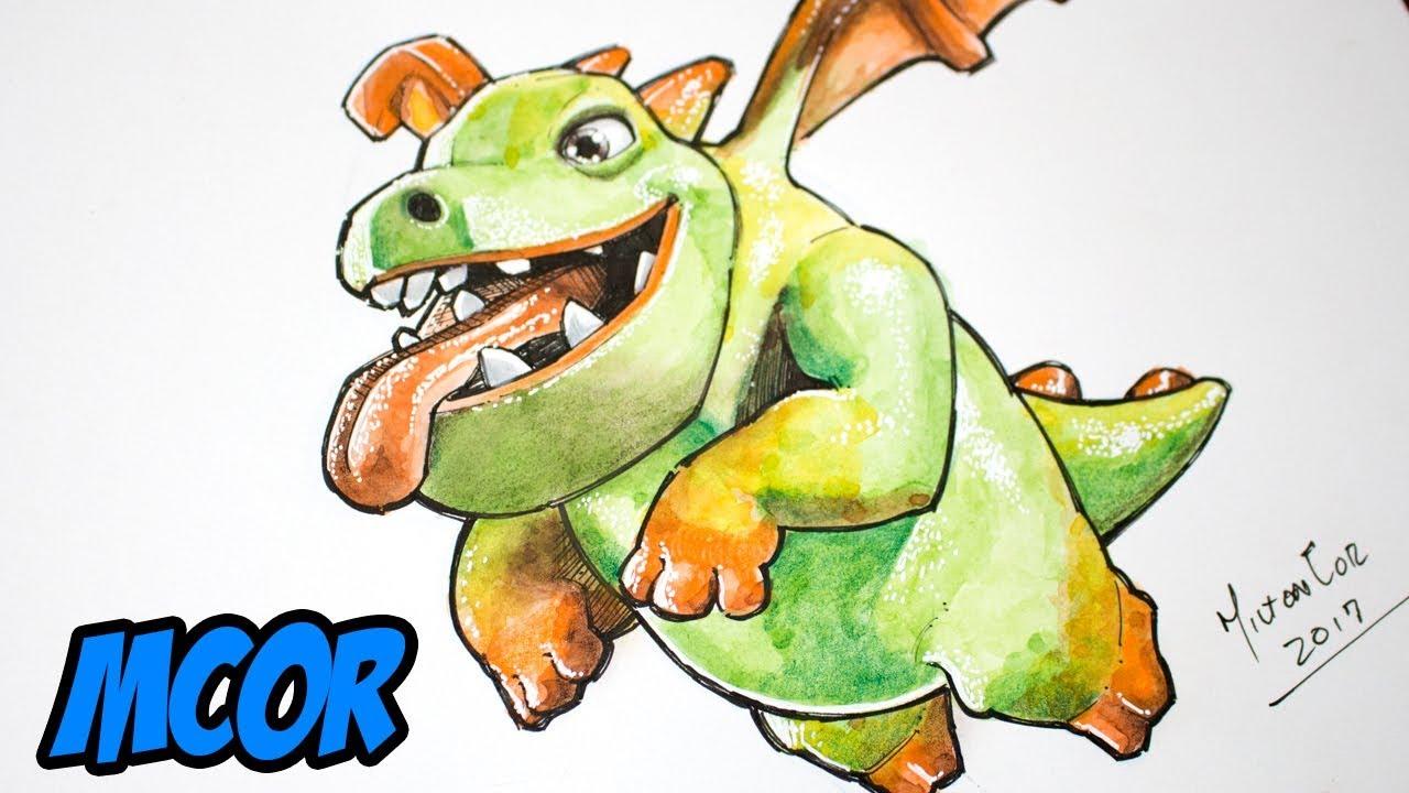 Encantador Bebé Dragón Para Colorear Festooning - Dibujos Para ...