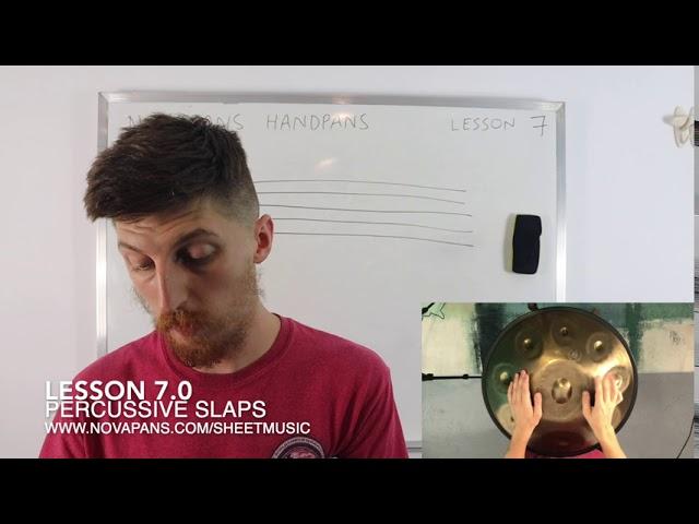 Percussive Slaps | Lesson 7 | Handpan Lessons | NovaPans Handpans