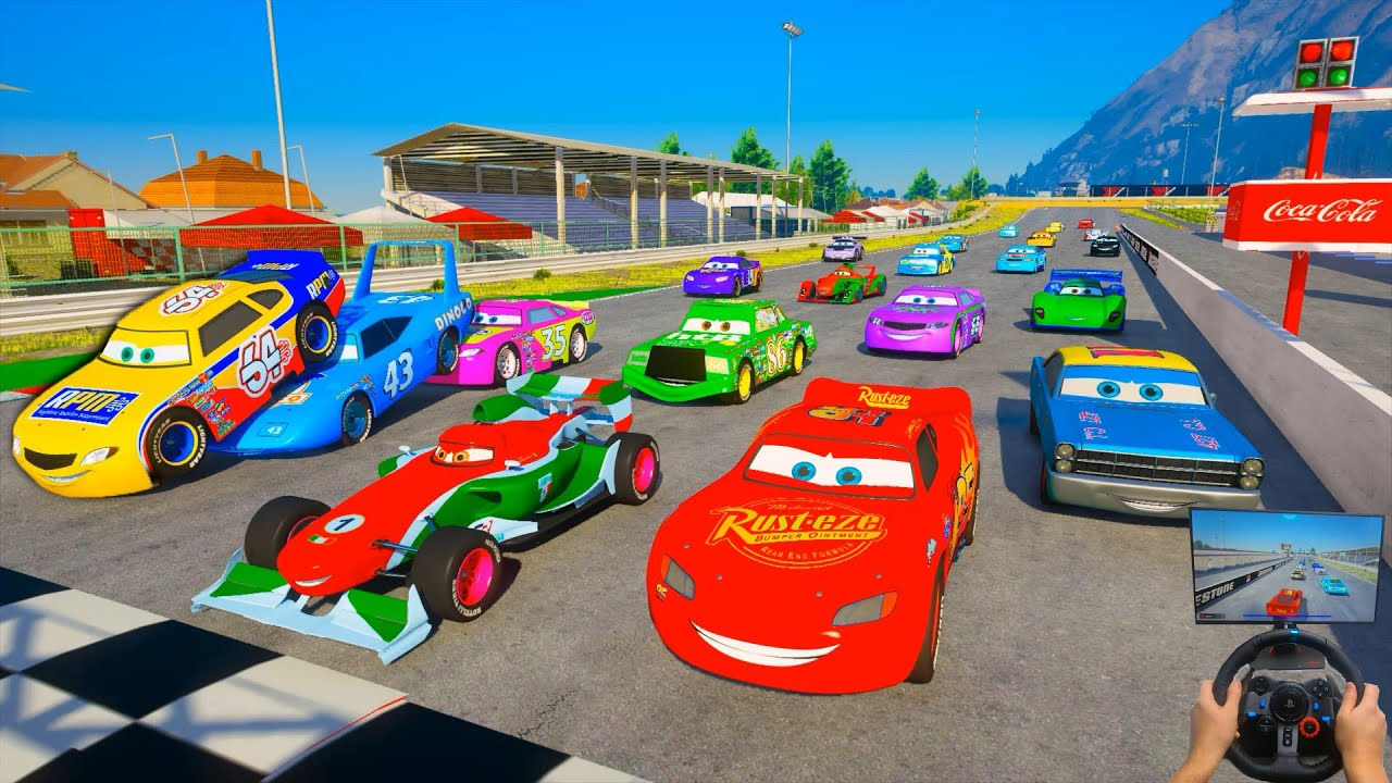 Race All Cars 2 Tsukuba Circuit McQueen VS Francesco Bernoulli Winford Rutherford The King & Friends