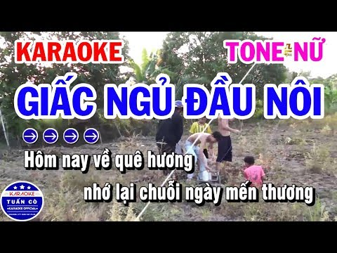 Karaoke Giấc Ngủ Đầu Nôi   Nhạc Sống Tone Nữ Cha Cha   Karaoke Tuấn Cò