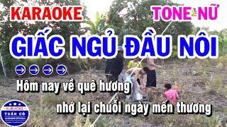 Karaoke Giấc Ngủ Đầu Nôi | Nhạc Sống Tone Nữ Cha Cha | Karaoke Tuấn Cò