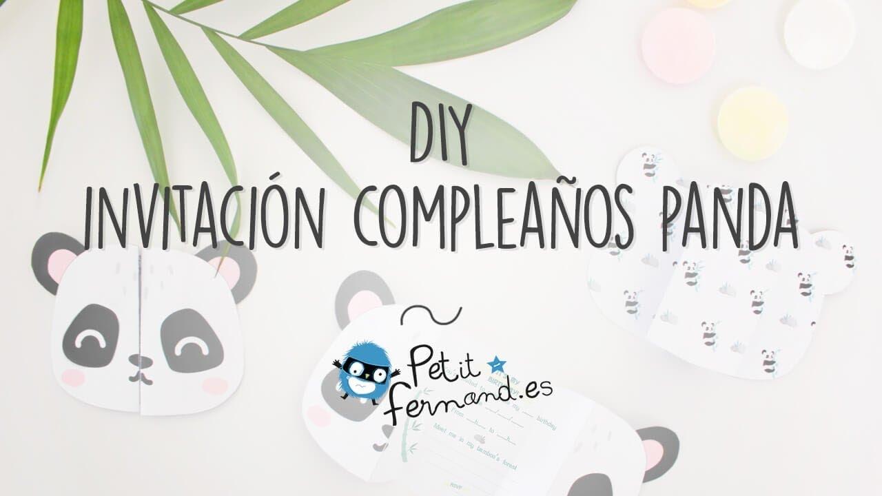 Invitaciones De Cumpleaños En Forma De Panda I Petit Fernand