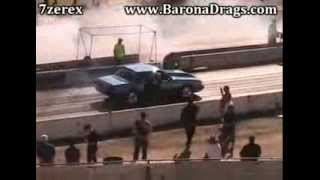 Fox Body Mustang MATCH RACE MADNESS WARM UP One Barona Drag Strip 1-25-2014