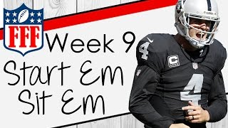 Week 9 Start'Em Sit'Em - 2016 Fantasy Football