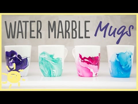 DIY | Water Marble Mugs with Only 2 Ingredients!! (Easy Gift idea!)
