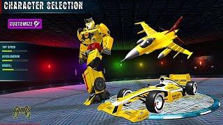 Formula Robot Car: Air Jet Robot Transforming Games - Android Gameplay screenshot 5