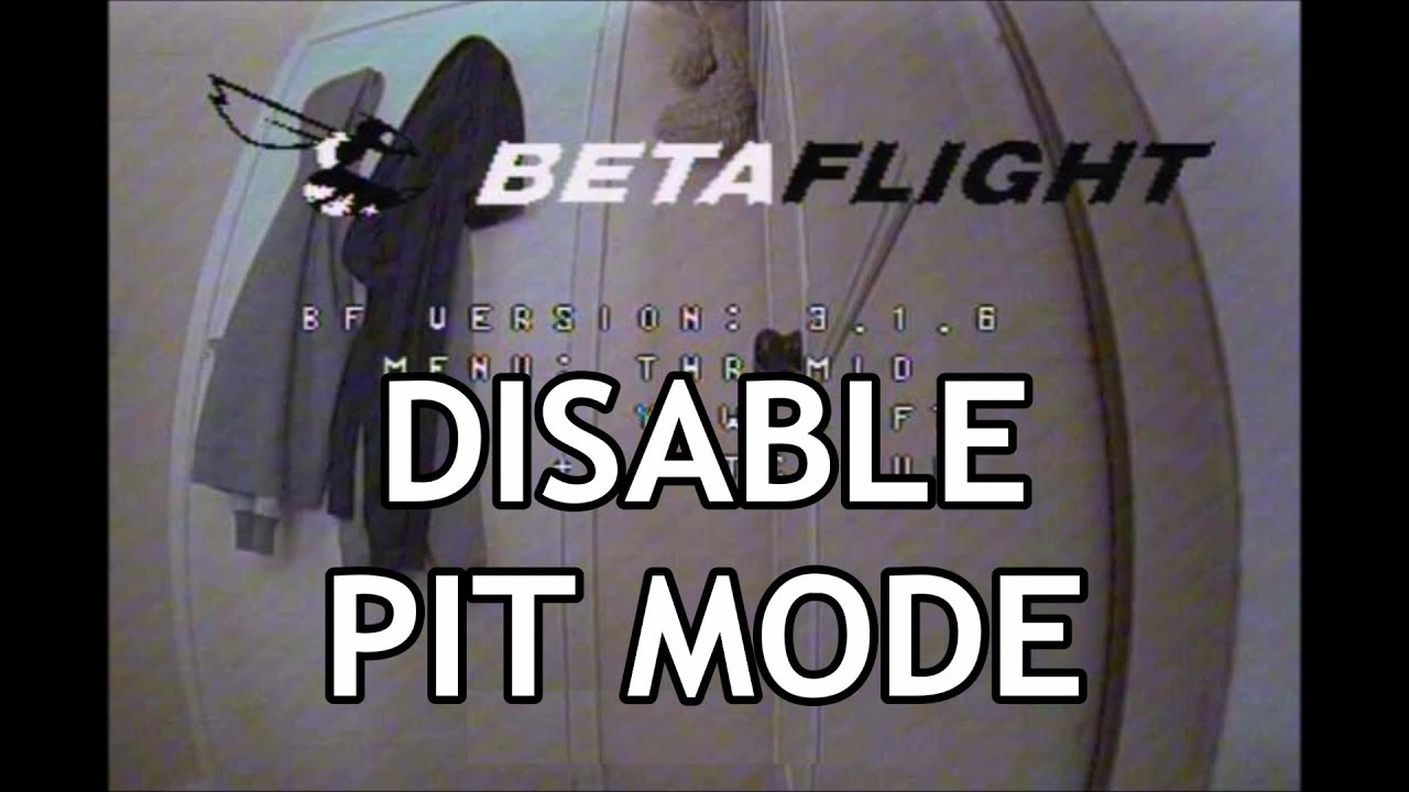 TBS Unify Pro HV - Smart Audio Betaflight menu settings to disable Auto-Pit  mode