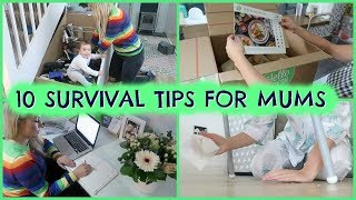 10 SURVIVAL TIPS & HACKS FOR MUMS     MOM HACKS    EMILY NORRIS AD